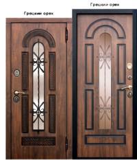 Дверь металлическая «Vikont Виконт» грецкий орех