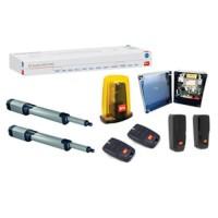 BFT Kustos BT A40 автоматика комплект для распашных ворот (2 привода, блок управления 24В, лампа 24В, 2 пульта и фотоэлементы)