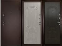 Дверь металлическая дк фаворит беленый дуб / венге
