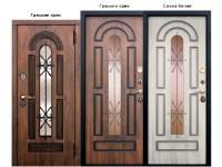 Дверь металлическая «Vikont Виконт» грецкий орех / сосна белая