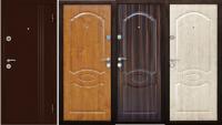 Дверь металлическая дк экстра  золотой дуб/беленый дуб/темный орех