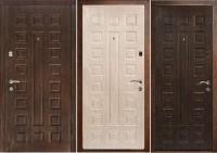 Дверь металлическая люкс беленый дуб / венге