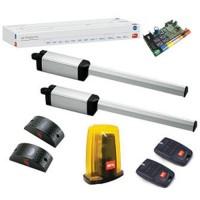 BFT PHOBOS BT A40 автоматика комплект для распашных ворот (2 привода, блок управления 24В, лампа 24В, 2 пульта и фотоэлементы)