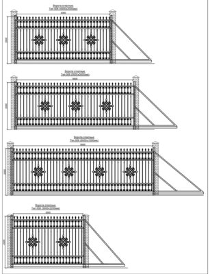 Заборы, ворота, откатные ворота